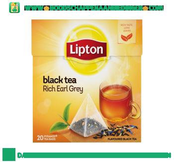 Lipton Zwarte thee rich earl grey aanbieding
