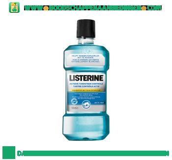 Listerine Mondwater actieve tandsteen controle aanbieding