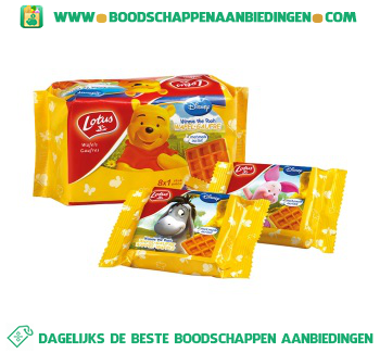 Lotus Winnie the pooh wafels naturel aanbieding