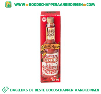 Lousiana Tabasco red pepper sauce aanbieding