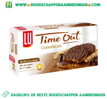 Lu Time out biscuit chocolade aanbieding