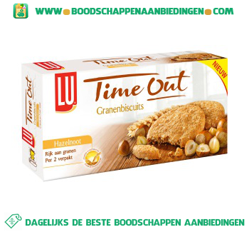 Lu Time out biscuits hazelnoot aanbieding