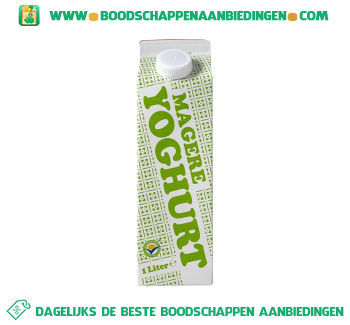 Magere yoghurt aanbieding