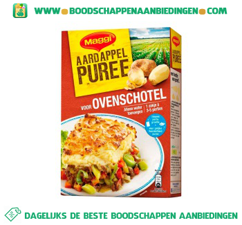 Maggi Aardappelpuree ovenschotel aanbieding
