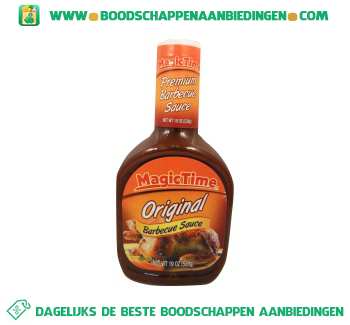 Magic time BBQ sauce original aanbieding