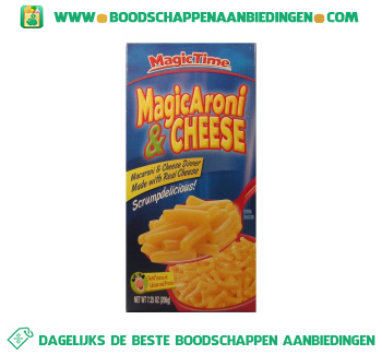Magic time Macaroni & cheese dinner aanbieding