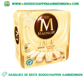 Magnum IJs Mini White & White Almond aanbieding