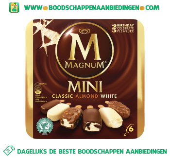 Magnum IJs mini classic almond white aanbieding