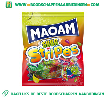 Maoam Maoam sour stripes aanbieding