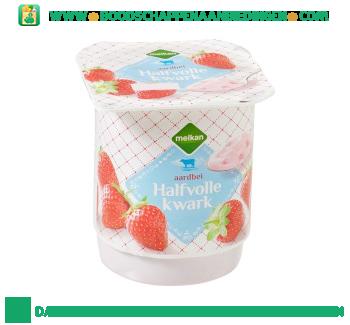 Halfvolle aardbeien kwark aanbieding