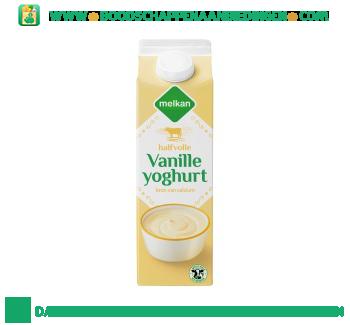 Melkan Halfvolle vanille yoghurt aanbieding