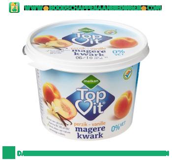 Melkan Magere kwark vanille perzik aanbieding