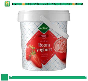 Melkan Roomyoghurt aardbei aanbieding