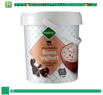 Melkan Roomyoghurt stracciatella aanbieding