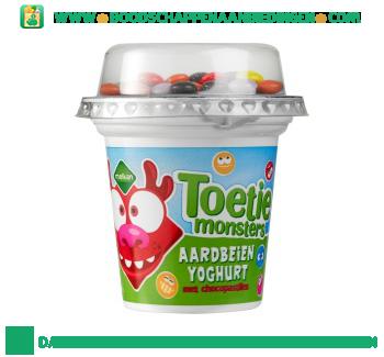 Melkan Toetiemonsters aardbeienyoghurt met chocopastilles aanbieding