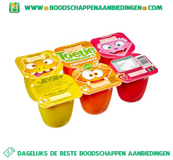 Melkan Toetiemonsters kinderkwark 6-pak aanbieding