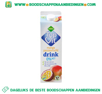 Melkan Topvit mango passievrucht drink aanbieding