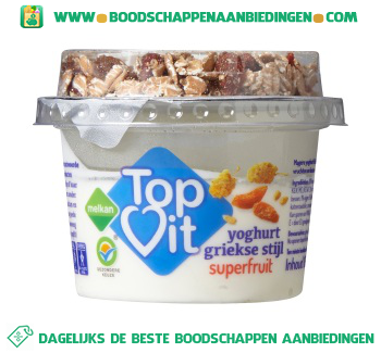 Melkan Topvit yoghurt superfruit aanbieding