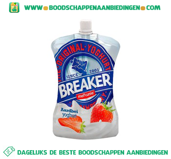 Melkunie Breaker aardbei aanbieding