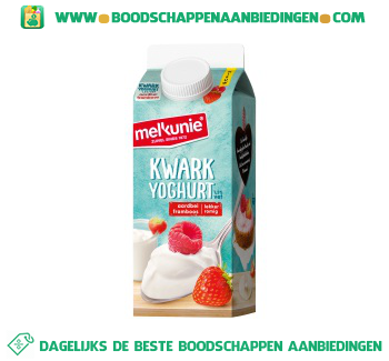 Melkunie Kwarkyoghurt aardbei framboos aanbieding