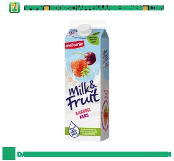 Melkunie Milk & Fruit aardbei kers aanbieding
