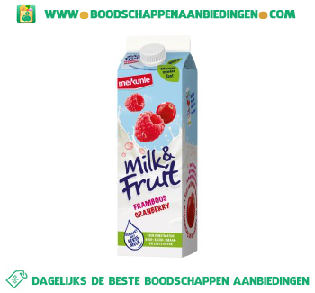 Melkunie Milk & Fruit framboos/cranberry aanbieding