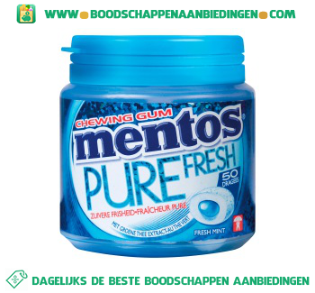 Mentos Chewing gum pure fresh freshmint aanbieding