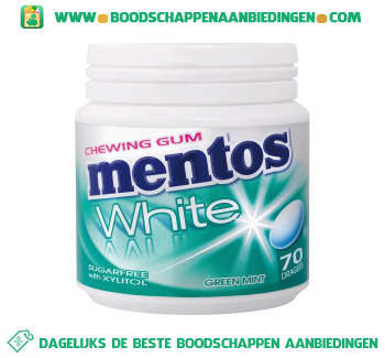 Mentos Chewing gum white greenmint aanbieding