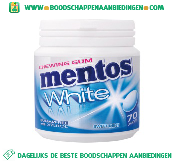 Mentos Chewing gum white sweetmint aanbieding