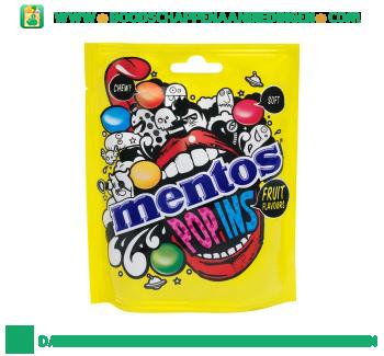 Mentos Popins fruit aanbieding
