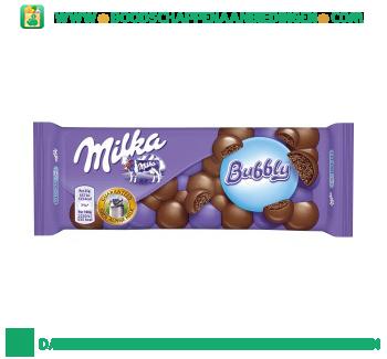Milka Chocoladereep bubbly aanbieding