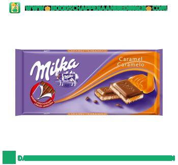 Milka Chocoladereep caramel aanbieding