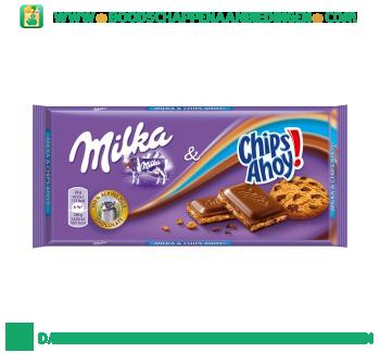 Milka Chocoladereep chips ahoy aanbieding