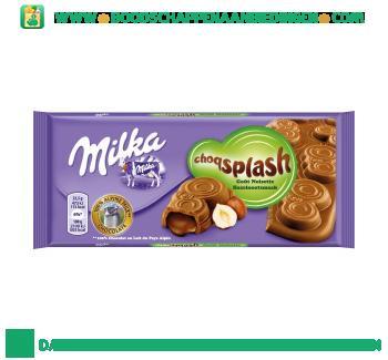 Milka Chocoladereep chocosplash hazelnoot aanbieding
