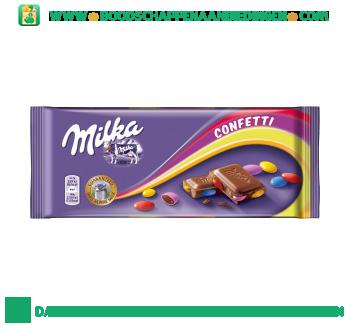 Milka Chocoladereep confetti aanbieding