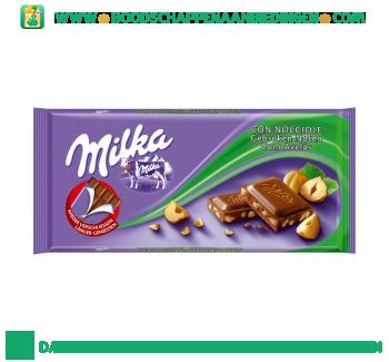 Milka Chocoladereep gebroken noten aanbieding