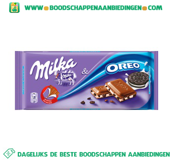 Milka Chocoladereep oreo aanbieding