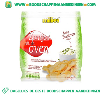 Millies Ovenzoutjes sour cream onion aanbieding