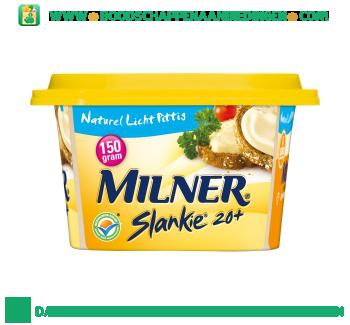 Milner Slankie smeerkaas 20+ naturel aanbieding