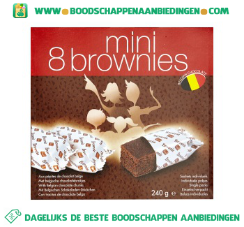 Mini brownies aanbieding