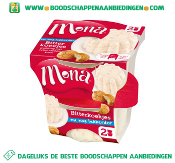 Mona Bitterkoekjes pudding aanbieding