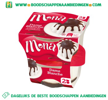 Mona Dame blanche pudding aanbieding