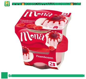 Mona Frambozen pudding met bessensaus aanbieding