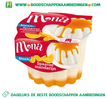 Mona Spaanse mandarijn pudding aanbieding