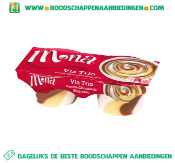 Vla trio vanille chocolade slagroom aanbieding