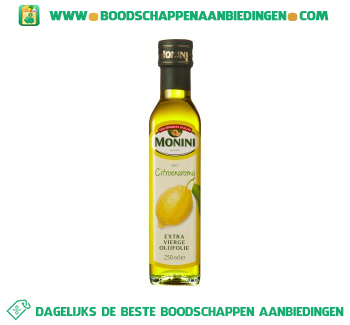 Monini Olijfolie citroen aanbieding