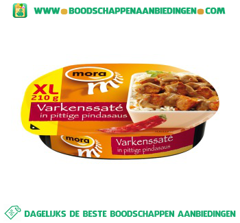 Mora Varkenssaté in pittige pindasaus aanbieding