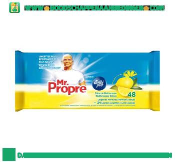Mr. Proper Schoonmaakdoekjes Mediterraanse citroen aanbieding