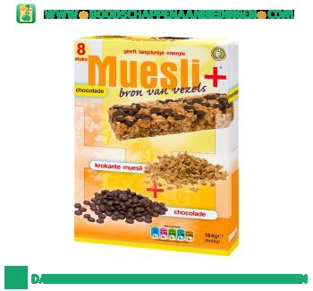 Muesli+ Mueslireep chocolade aanbieding