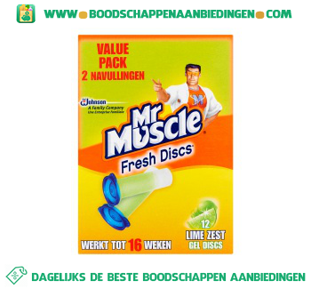 Muscle Fresh discs lime navul aanbieding